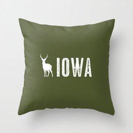 Deer: Iowa Throw Pillow