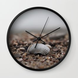 shell on the sandy shore Wall Clock