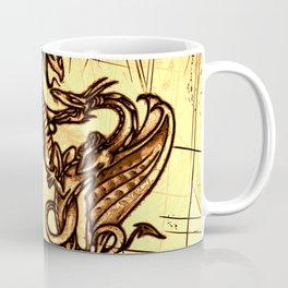 Battling Dragons - Mythical Creatures Coffee Mug