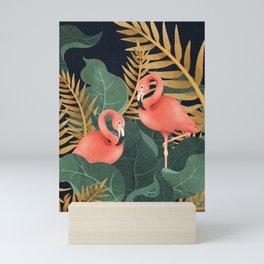 Two Flamingos Mini Art Print
