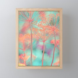 Floral abstract (80) Framed Mini Art Print
