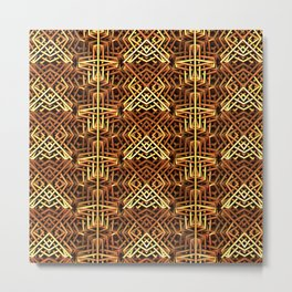 Yes, Another Gold Pattern Metal Print