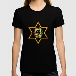 Star Of David Rasta Lion Of Judah T-shirt