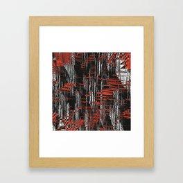 Red and Black Modern Art Framed Art Print