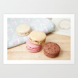 macarons! Art Print
