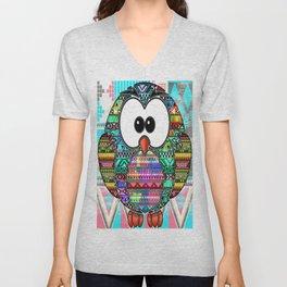 owl aztec tribal best design Unisex V-Neck