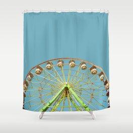 Ferris wheel ride on a sunny day at the Marin County Fair in San Rafael Shower Curtain