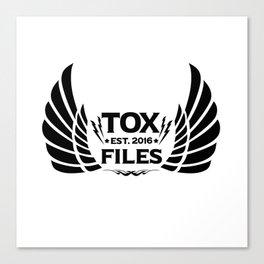 Tox Files - Black on White Canvas Print