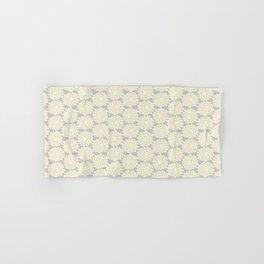 White cotton flower Hand & Bath Towel