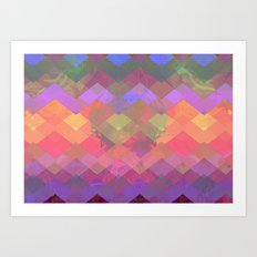Color Wave Art Print