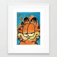 garfield Framed Art Prints featuring Garfield by Brieana