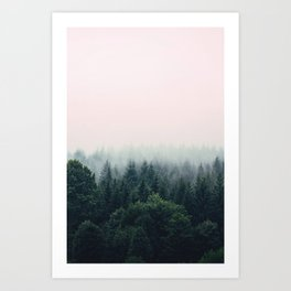 Between every two pines is a doorway to a new world Art Print