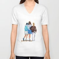 best friends V-neck T-shirts featuring Best Friends by MadDog