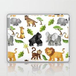 Safari Animals Pattern Watercolor Laptop & iPad Skin