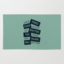 Lab No. 4 Ever Tried Samuel Beckett Motivational Quotes Rug