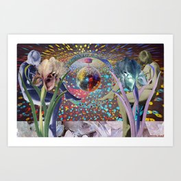Crystal Purple Persuasion Art Print