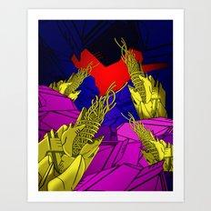 AUTOMATIC WORM 6 Art Print