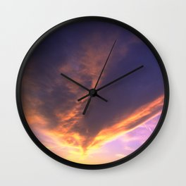 Ominous Cloud: Looking for Rays of Hope Wall Clock