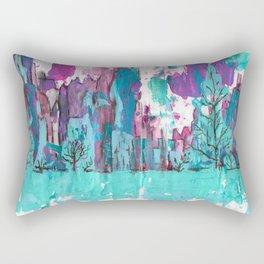 Sunset Cliffs and Waterfalls Rectangular Pillow