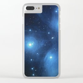 The Pleiades Star Cluster Clear iPhone Case