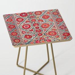 Kermina Suzani Uzbekistan Embroidery Print Side Table