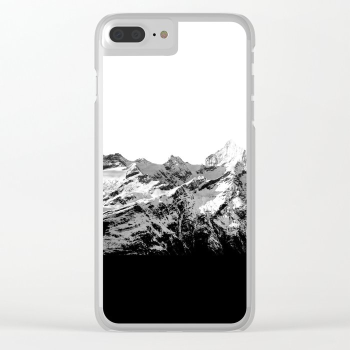 Mountain(black and white) Clear iPhone Case