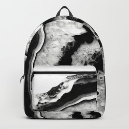 Gray Black White Agate #1 #gem #decor #art #society6 Backpack