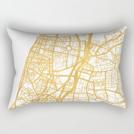 TEL AVIV ISRAEL CITY STREET MAP ART Rectangular Pillow