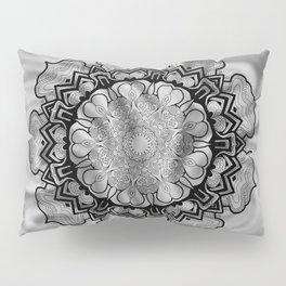 Gray Swirl Mandala Pillow Sham