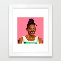 Hipstory - Barack Obama Framed Art Print