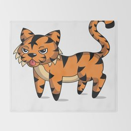 Tamale the Tiger Throw Blanket