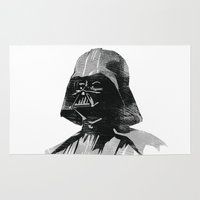 darth vader Area & Throw Rugs featuring Darth Vader by Hey!Roger