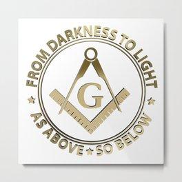 Freemasonry emblem Metal Print