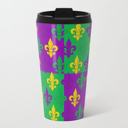 Mardi Gras Fleur-de-Lis Pattern Travel Mug