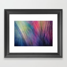 Tropical Feather Abstract Framed Art Print