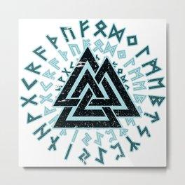 Valknut | Viking Warrior Symbol Triangle Metal Print