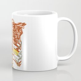 Red Golden Rib Cage Coffee Mug