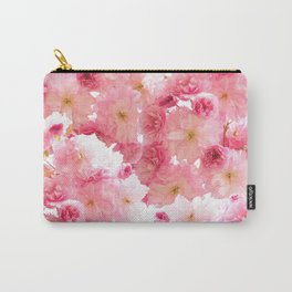 Botanical blush pink beautiful cherry blossom floral Carry-All Pouch