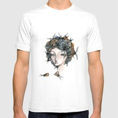 The moth girl Mens Fitted Tee MEDIUM White