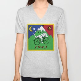 Bicycle Day 1943 Albert Hofmann LSD Unisex V-Neck