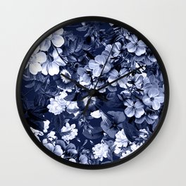 Bohemian Floral Nights in Navy Wall Clock