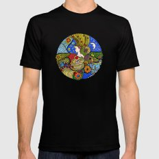 Circle of Life MEDIUM Mens Fitted Tee Black
