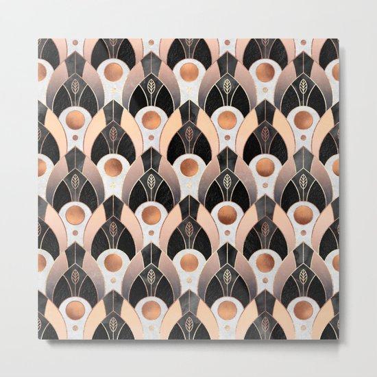Art Deco Leaves / Version 1 Metal Print