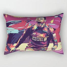 Andrew Robertson on WPAP Pop Art Portrait Rectangular Pillow