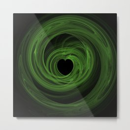 Valentine's Fractal V - Dark Metal Print