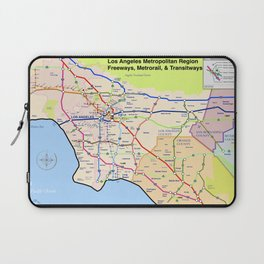 A subway style Map of Los Angeles Laptop Sleeve