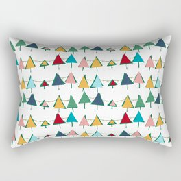 Cute Christmas tree colorful Rectangular Pillow