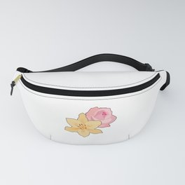 Pink Rose & Day Lily Fanny Pack