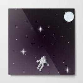 Reaching for the moon in the Night Sky Metal Print