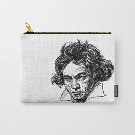 Ludwig Van Beethoven line drawing Carry-All Pouch